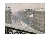 Boulevard Haussmann in the Snow  1879 or 1881