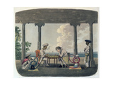 The Chess Match  Engraved by T Rickards  1804
