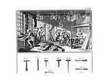 The Instrument Maker's Workshop  Plate Xviii from the 'Encyclopedia' by Denis Diderot (1713-84)…
