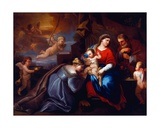 The Mystic Marriage of St Catherine in a Giordano Composition