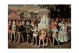 Queen Elizabeth I (1533-1603) Being Carried in Procession (Eliza Triumphans) C1601