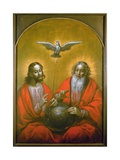 The Holy Spirit with a Model of Ptolemy's World  1610