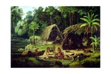 Carib Village  British Guyana  1836