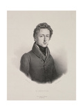 Frederic Chopin (1810-49) Engraved by Gottfried Engelmann (1788-1839) 1833