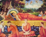 Mural Depicting Nirvana of the Buddha