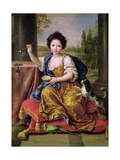 Marie-Anne De Bourbon (1666-1739) Mademoiselle De Blois  Blowing Soap Bubbles