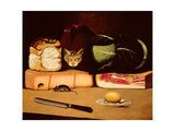Still Life with Cat and Mouse  Primitive School  1820