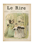 At the Salon  Front Cover of 'Le Rire'  10th August 1895