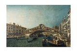 The Rialto Bridge  Venice  C1740