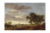 Landscape with Egmond Abbey in the Distance  1657