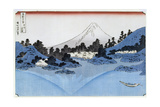 Mount Fuji Reflected in Lake Misaica  from the Series '36 Views of Mount Fuji' ('Fugaku…