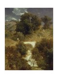 Roman Landscape with a Bridge  1863