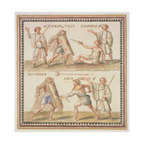 Ms Gen 1496 Plate Cxxiv Gladiators  1674