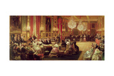 Concert in the Galerie Des Guise at Chateau D'Eu  4th September 1843  1844