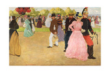 A Sunday Walk in the Bois De Boulogne  1899