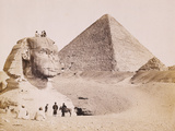 Egyptian Guides with European Tourists at the Sphinx  1867