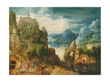 Mountainous Landscape with the Road to Emmaus  1597