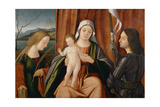 Madonna and Child with Saints Catherine of Alexandria and Either George or Liberale