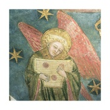 Angel Musician Playing a Psaltery  Detail from the Vault of the Crypt
