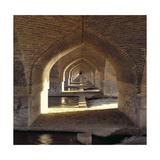 View Along the Inside of the Khaju Bridge Dam  Safavid Period