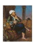 An Egyptian Man Smoking a Hookah