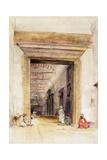 The Great Doorway of the Mosque of Santa Sophia  Constantinople