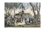 'Local Fetes around Paris'  Series  1830  Fontenay-Aux-Roses