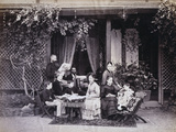 An English Family at Morning Tea in Simla  India  1871