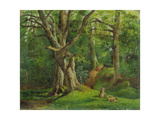 Woodland Scene with Rabbits  1862
