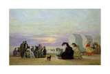 Beach Scene  Evening  1864