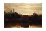 A View of Lincoln from the Foss Dyke  Dawn