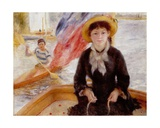 Woman in Boat with Canoeist  1877