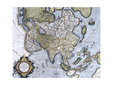 Map of Asia  Pages 74-75 of 'Atlas Sive Cosmographicae Meditationes De Fabrica Mundi Et Fabricati…