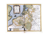 Map of Belgium  Pages 296-297 of 'Atlas Sive Cosmographicae Meditationes De Fabrica Mundi Et…