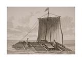 A South American Bolsa Wood Raft  Engraved by Thomas Milton (1743-1827) 1820