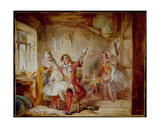Backstage at the Theatre Royal  Possibly Depicting Ira Frederick Aldridge (1807-67) Rehearsing…