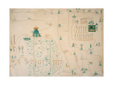 Glyph Map of Aztec Migration from Aztlan to Tenochtitlan  Published C1830
