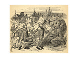 The Mad Hatter  Hare  the King and Alice  Illustration from 'Through the Looking Glass' by Lewis…