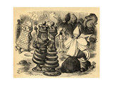 The Chess Players  Illustration from 'Through the Looking Glass' by Lewis Carroll (1832-98) First…