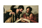 Saints John the Evangelist and Mark Discussing their Writings