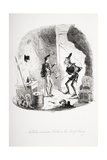 Nicholas Instructs Smike in the Art of Acting  Illustration from 'Nicholas Nickleby' by Charles…