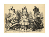 Manners and Lessons  Illustration from 'Through the Looking Glass' by Lewis Carroll (1832-98)…