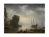Mediterranean Coastal Scene  1746