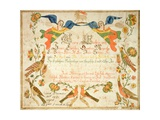 Fraktur for the Birth and Baptismal Certificate for Elizabeth Wachter (1808-71) 1808