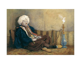 Portrait of Sir Thomas Philips in Eastern Costume  Reclining with a Hookah