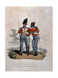 Battalion Infantry 6th Regiment and 23rd (Or Royal Welsh) Fusiliers  from 'Costumes of the Army…