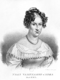 Portrait of Rahel Varnhagen Von Ense (1771-1833) Born Levin  Engraved by Gottfried Kustner…
