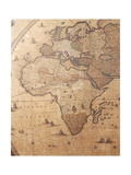 Section of 'Nova Totius Terrarum Orbis Tabula' (World Map) Showing Africa  C1655-58