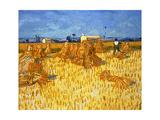 Harvest in Provence, June 1888 Reproduction d'art par Vincent Van Gogh
