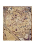 The Top Right Section of 'Nova Totius Terrarum Orbis Tabula' (World Map) Showing Astrological…